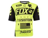 Image 3 for Fox Racing Demo Union Short Sleeve Jersey (Matte Black/High Vis)