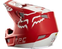 Image 3 for Fox Racing Rampage Pro Carbon Full Face Helmet (Moth Red/White)