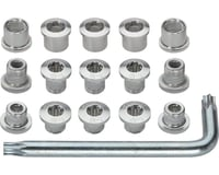 FSA Torx T-30 Alloy Mountain Chainring Nut/Bolt Set wiith tool: Silver | relatedproducts