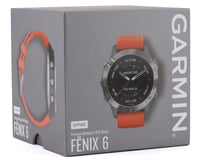 Image 3 for Garmin Fenix 6 Sapphire (Ti Gray w/ Orange Fenix 6 Quick Fit Wristband)