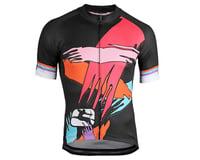 Image 1 for Giordana Saggitario Jersey (Black/Pink/Orange) (L)
