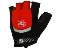Giordana Strada Gel Short Finger Gloves (Red)