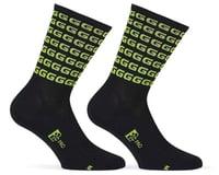 "Giordana FR-C Tall ""G"" Socks (Black/Acid Green)"