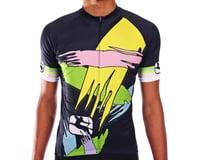Giordana Moda Retro Saggitario Short Sleeve Jersey (Blue/Pink/Green)