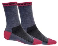 "Giordana Merino Wool Socks (Grey/Pink) (5"" Cuff)"