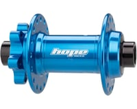 Image 2 for Hope Pro 4 Front Disc Hub (Blue) (32H) (15mm Boost Axle)