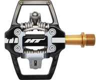 "Image 1 for HT T1 Clipless Platform Pedals, Ti - Black (9/16"")"