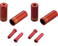 Jagwire End Cap Hop-Up Kit 4.5mm Shift and 5mm Brake (Red) | relatedproducts