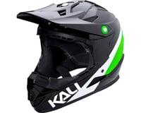 Image 1 for Kali Zoka Switchback Youth Helmet (Gloss Black/Lime/White) (Kids L)