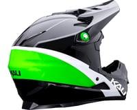 Image 2 for Kali Zoka Switchback Youth Helmet (Gloss Black/Lime/White) (Kids L)