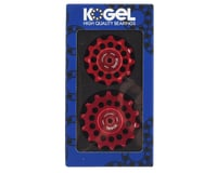 Image 2 for Kogel Bearings Oversized Pulleys for Shimano 9100 & 8000 Series (Red)