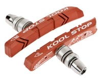 Kool Stop Mountain Brake Shoe Threaded Post For Linear Pull (Salmon)