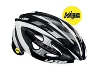 Image 1 for Lazer Helium MIPS Road Helmet (Black/White)