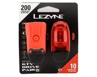 Image 2 for Lezyne KTV Drive Headlight and Taillight Set (Red)