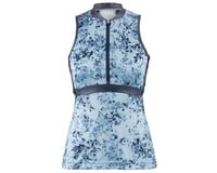 Image 1 for Louis Garneau Women's Art Factory Sleeveless Zircon Jersey (Blue) (XL)