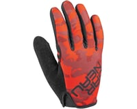 Image 1 for Louis Garneau Ditch Gloves (Red/Charcoal) (L)