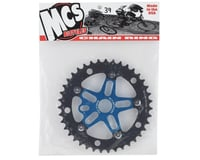Image 2 for MCS Alloy Spider & Chainring Combo (39T) (Blue/Black)