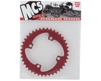 Image 2 for MCS 4-Bolt Chainring (Red) (40T)