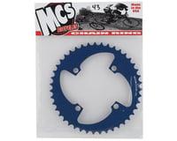 Image 2 for MCS 4-Bolt Chainring (Blue) (43T)