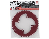 Image 2 for MCS 4-Bolt Chainring (Red) (47T)