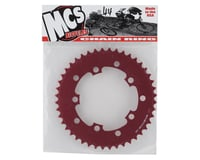 Image 2 for MCS 5-Bolt Chainring (Red) (44T)