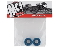 """Image 2 for MCS Hub Axle Nuts (3/8"""") (10mm) (ED Blue) (Pair)"""