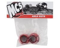 """Image 2 for MCS Hub Axle Nuts (3/8"""") (14mm) (ED Red) (Pair)"""
