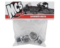 """Image 2 for MCS Spinner Hub Axle Nuts Chrome (3/8"""") (10mm) (Set of 4)"""