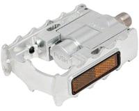 """Image 1 for Mks FD-7 Folding Platform Pedal: 9/16"""" Alloy Silver"""