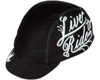 Pace Sportswear Live to Ride Cycling Cap (Black/White)