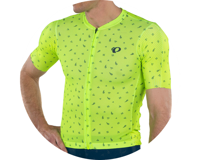 Image 4 for Pearl Izumi Men's PRO Mesh Jersey (Screaming Yellow/Navy Paisley) (S)