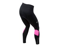 Image 2 for Pearl Izumi Women's Escape Sugar Thermal Cycle Tight (Black/Screaming Pink) (M)