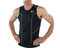Image 4 for Pearl Izumi Select Pursuit Tri Jersey (Black/Screaming Green) (M)