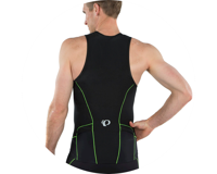 Image 3 for Pearl Izumi Elite Pursuit Tri Singlet (Black/Screaming Green) (XS)