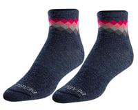 Pearl Izumi Women's Merino Wool Socks (Navy/Sugar Coral Solitaire)