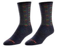 Pearl Izumi Merino Wool Tall Socks (Navy Dash)