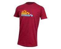 Image 1 for Pearl Izumi Organic Cotton T-Shirt (Bike Stripe Dark Red) (XL)