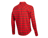 Image 2 for Pearl Izumi Rove Longsleeve Shirt (Torch Red/Russet Plaid) (2XL)