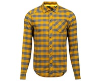 Pearl Izumi Rove Long Sleeve Shirt (Turbulence/Gold Plaid)