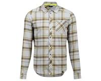 Pearl Izumi Rove Long Sleeve Shirt (Dark Olive/Fog Plaid)