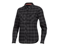 Pearl Izumi Women's Rove Long Sleeve Shirt (Black/Phantom Plaid)
