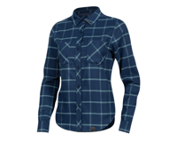 Pearl Izumi Women's Rove Long Sleeve Shirt (Navy/Aquifer Plaid)