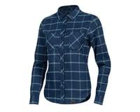 Image 1 for Pearl Izumi Women's Rove Longsleeve Shirt (Navy/Aquifer Plaid) (XS)