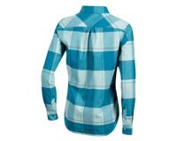 Image 2 for Pearl Izumi Women's Rove Long Sleeve Shirt (Teal/Aquifer Plaid) (M)