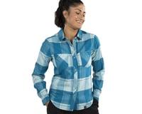 Image 3 for Pearl Izumi Women's Rove Long Sleeve Shirt (Teal/Aquifer Plaid) (M)