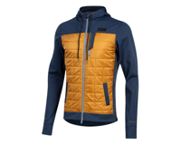 Image 1 for Pearl Izumi Versa Quilted Hoodie (Navy/Berm Brown) (XL)