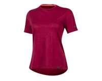 Image 1 for Pearl Izumi Women's BLVD Merino T Shirt (Beet Red) (XL)