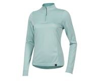 Image 1 for Pearl Izumi Women's BLVD Merino 1/4 Zip (Aquifer) (XL)
