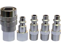 Prestacycle Industrial/Mechanical Alloy Coupler Kit w/ 4 Plugs