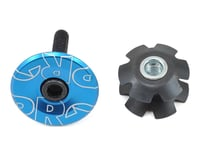 Pro 1 1/8 Gap Cap and Star Nut for Alloy Steerers (Blue Anodized)